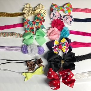 Other - Lot of 12 baby girl bow headbands 6-12 months